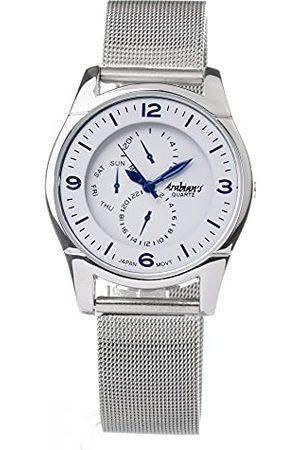 Arabians Analog kvartsklocka för män med rostfritt stål DBP2227Y