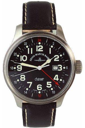 Zeno Zeno klocka Basel Gents klocka pilot överdimensionerad 8563-a1