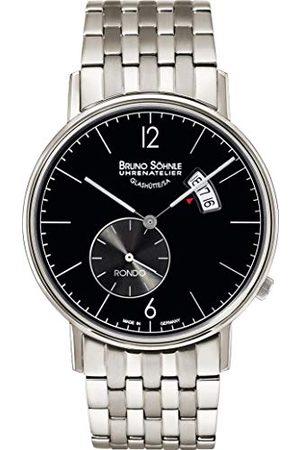 Soehnle Man Klockor - Bruno Söhnle herr analog kvarts klocka med rostfritt stål armband 17-13053-762
