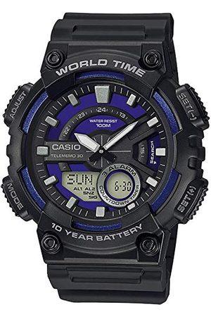 Casio Man Klockor - Herrar analog – digital kvarts klocka med harts armband AEQ-110W-2A2VEF