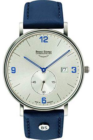 Soehnle Bruno Söhnle herr analog kvarts klocka med läderarmband 17-13187-263