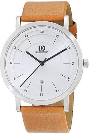 Danish Design Dansk design herr analog kvartsklocka med läderarmband 3314529