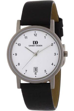 Danish Design Dansk design kvartsklocka för män 3316033 med läderrem