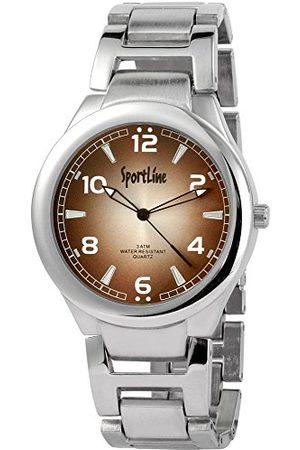 Sportline Herr analog kvartsklocka med olika material armband 28432700006