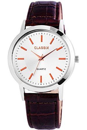 CLASSIX Classic herr analog kvartsklocka med läderarmband RP4782250013