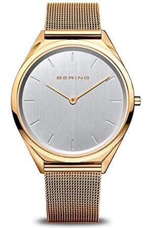 Bering Unisex analog kvartsklocka med rostfritt stål armband 17039-334