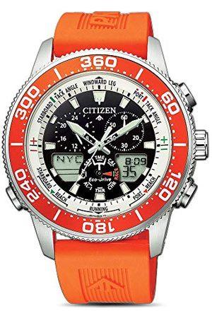 Citizen Herrar analog – digital kvarts klocka med plastarmband JR4061-18E
