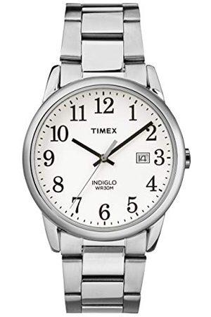 Timex Män analog kvarts klocka lätt läsare armband Silverton/