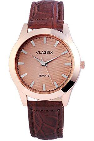CLASSIX Classic herr analog kvartsklocka med läderarmband RP4783750011