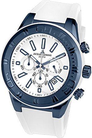 Jacques Lemans Herr kronograf kvarts smart klocka armbandsur med silikonarmband 1–1820J