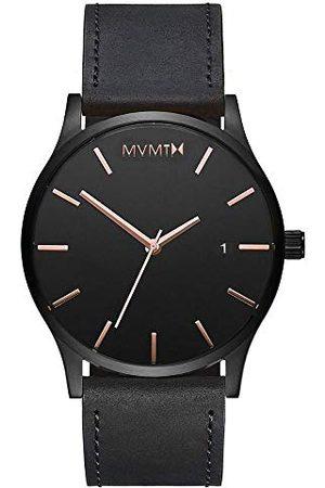 MVMT Herr analog kvartsklocka med läderarmband D-MM01-BBRGL