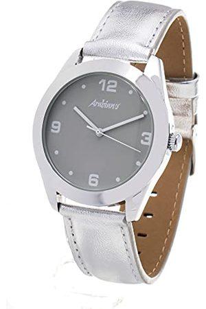 ARABIANS Analog kvartsklocka för män med läderrem HBA2212S