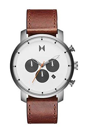MVMT Herr analog kvartsklocka med kalvläder armband 28000011-D