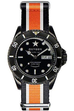 Oxygen Unisex-armbandsur katt analog kvarts nylon EX-DV-CAT-42-NN-BLIVOR