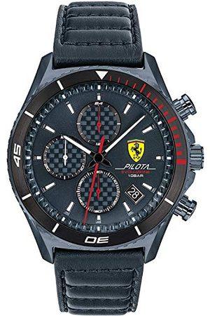 Scuderia Ferrari Herr analog kvartsklocka med läderrem 0830774