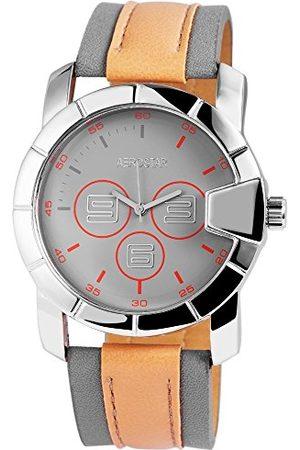Aerostar Herr analog kvartsklocka med läderrem 2.11022E+11