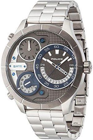 Police Man Armband - Polis herr kvartsklocka med urtavla analog display och rostfritt stål armband 14638XSTU/61M