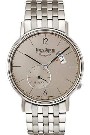 Soehnle Man Klockor - Bruno Söhnle herr analog kvarts klocka med rostfritt stål armband 17-13053-862