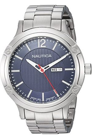 Nautica Herr analog kvartsklocka med rostfritt stål armband NAPPRH019