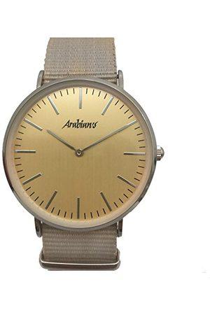 ARABIANS Analoga kvartsklocka för män med textilrem HBA2228BO