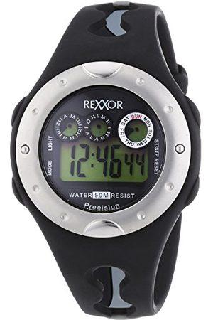 Rexxor Armbandsur för män XL digital kvarts gummi 239-6068-44