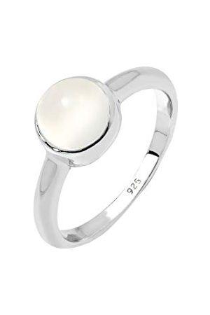 Elli Dam 925 sterling silver månsten grundstapling ring e Silver, M, colore: Vitt, cod. 06400013_52