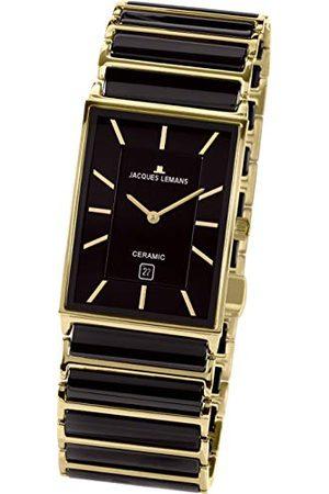 Jacques Lemans Herr analog kvartsklocka med rostfritt stål armband 1–1593,1 G