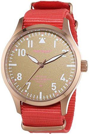 Pop-Pilot Unisex analog kvarts smart klocka armbandsur med tygarmband armband One Size med rödguld och