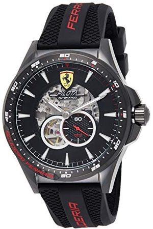 Scuderia Ferrari Herr skelett automatisk klocka med silikonrem 0830600