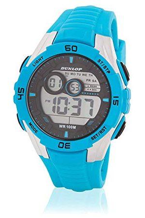 Dunlop Unisex vuxen digital kvartsklocka med gummiband DUN233G04