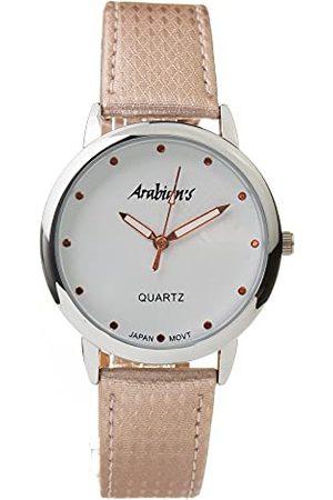 ARABIANS Analog kvartsklocka för män med läderrem DBP2262R