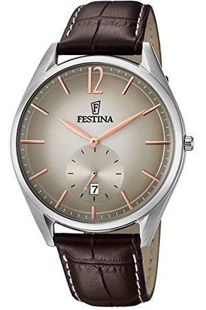 Festina Herr analog kvartsklocka med läderarmband F6857/5