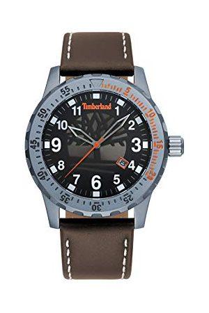 Timberland Herr analog klassisk kvartsklocka med läderrem TBL.15473JLU/02