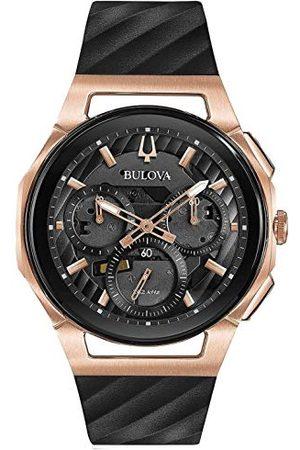 BULOVA Herr kronograf kvartsklocka med gummiband 98A185