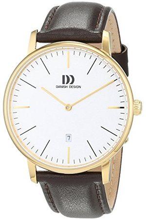Danish Design Dansk design herr analog kvartsklocka med läderarmband 3310095