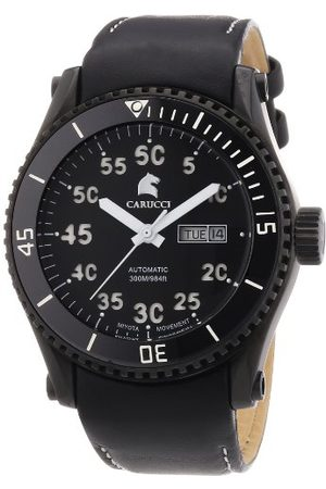 Carucci Watches herrarmbandsur XL analog automatisk rostfritt stål CA2196BK-WH