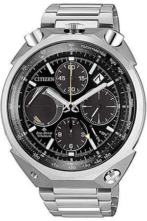 Citizen Kronograf Eco-Drive-klocka för män med titanrem AV0080-88E