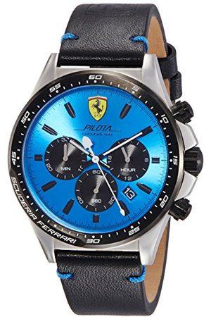 Scuderia Ferrari Herr kronograf kvartsur med läderarmband 830388