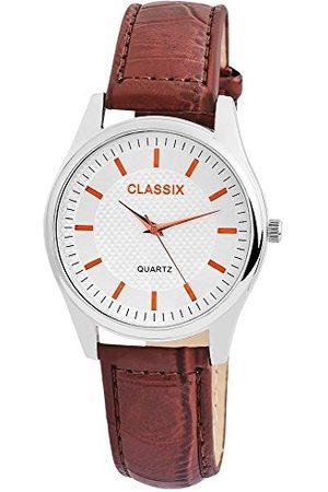 CLASSIX Herr analog kvartsklocka med läderarmband RP4782250012