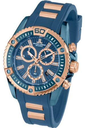 Jacques Lemans Herr kronograf kvarts smart klocka armbandsur med silikonarmband 1–1805E