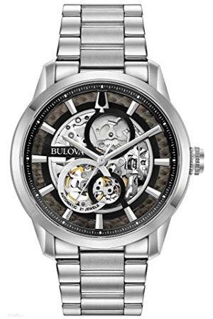 BULOVA Herrar analog automatisk klocka med rostfritt stål armband 96A208