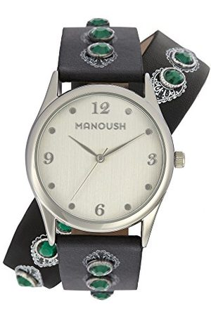 Manoush Unisex analog kvartsklocka med PU-armband MSHDI02