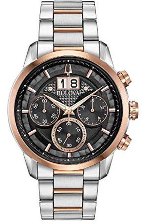 BULOVA Mäns kronograf kvarts klocka med rostfritt stål armband 98B335