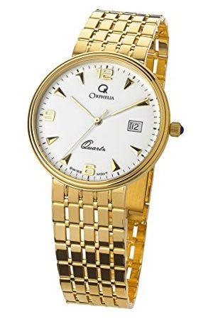 ORPHELIA Män analog kvartsur med gult guld armband MON-7079