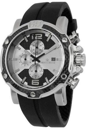 Herzog & Shne Herzog & Söhne kvartsklocka för män med urtavla kronograf display och silikonrem HS201-112