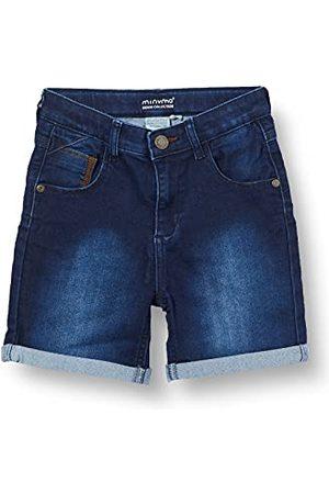 MINYMO Pojkar shorts power stretch jeans, Mörkblå denim, 86 cm