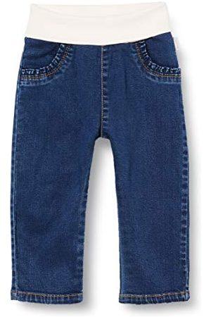 Sanetta Flicka mörk basic jeans med mjukt omslag för utmärkt komfort fiftyseven