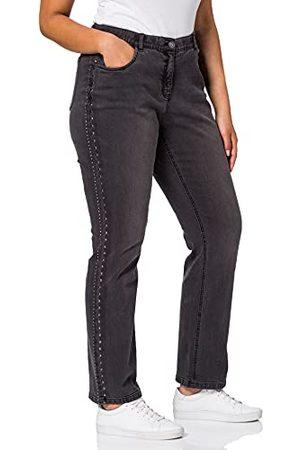 Ulla Popken Dam mandy med nitar, N, K, l-längd jeans