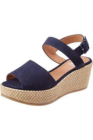 Bensimon Kvinna Sandaler - Damer sandaler kompisar mocka plattform, marinblå - 39 EU