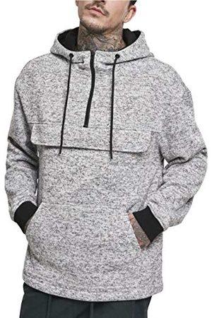 Urban classics Herr huvtröja knit fleece hoody